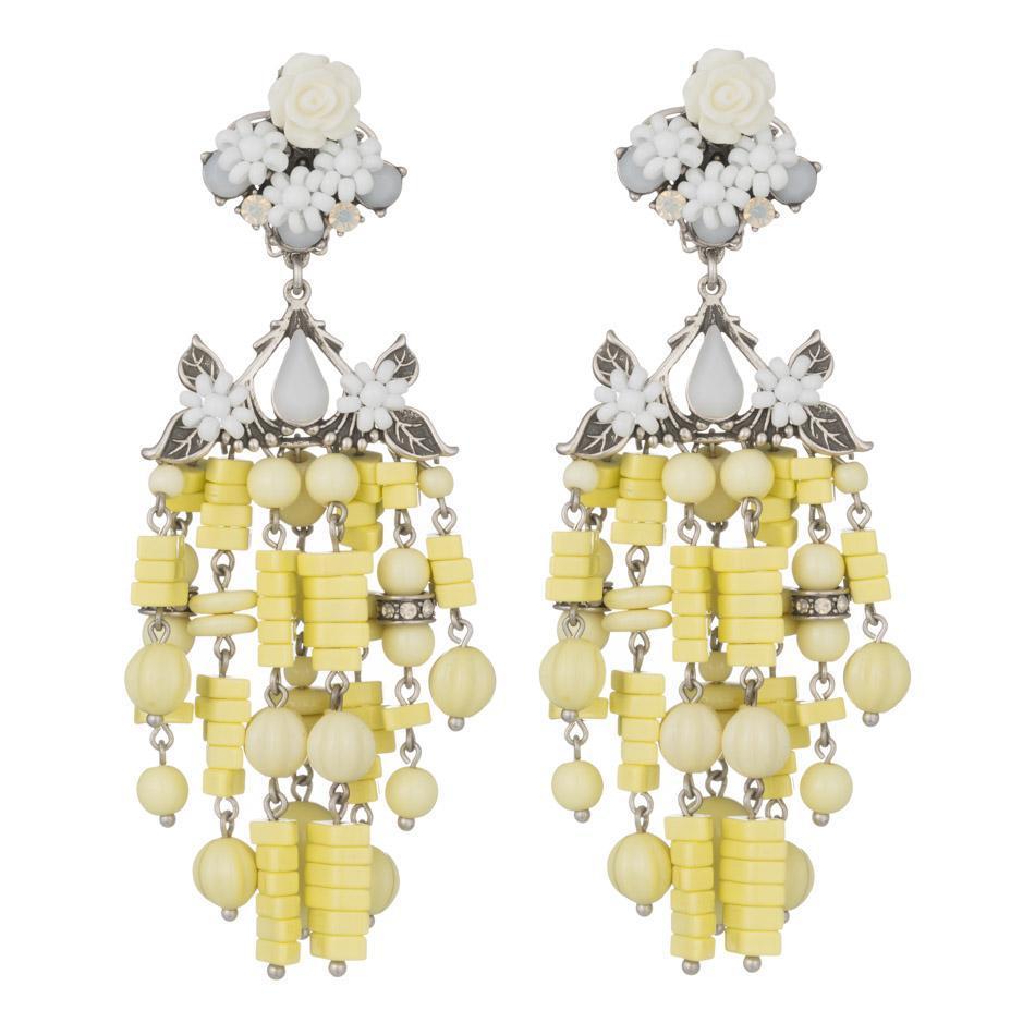 Dannijo Lionel earrings - Yellow & Orange ZayVK4Uph