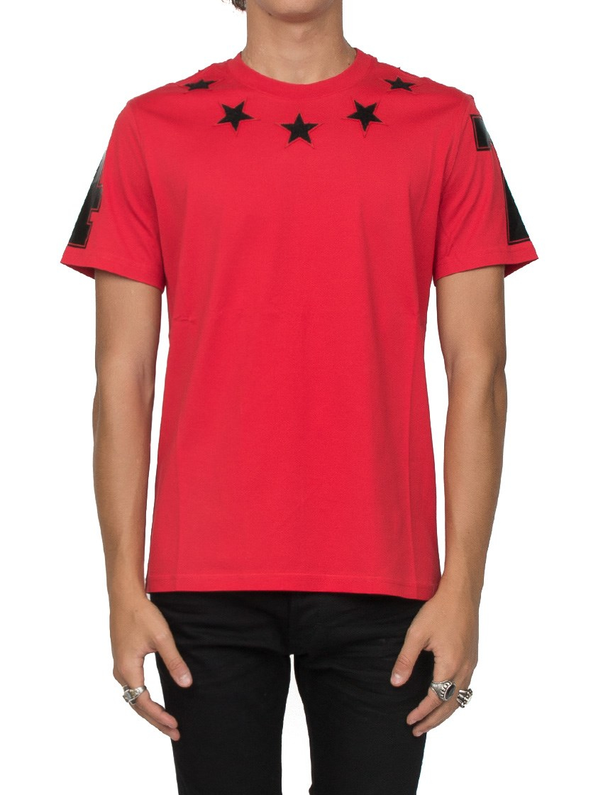 Givenchy stars t shirt in black for men lyst for Givenchy 5 star shirt