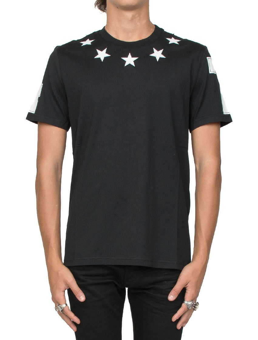 Givenchy stars t shirt for men lyst for Givenchy 5 star shirt