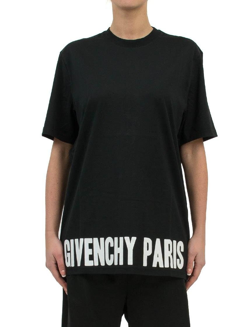 lyst givenchy printed cotton t shirt in black. Black Bedroom Furniture Sets. Home Design Ideas
