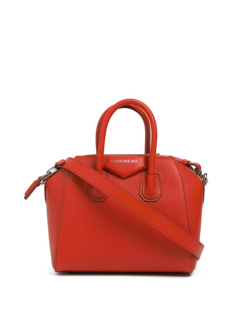 Lyst - Givenchy  antigona  Small Leather Bag in Red 432dcd27e7533