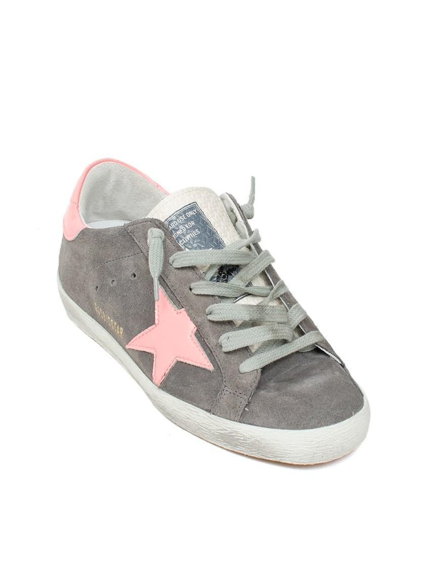 302164c7aec2 Lyst - Golden Goose Deluxe Brand Super Star Suede Sneakers in Gray - Save  35.25%