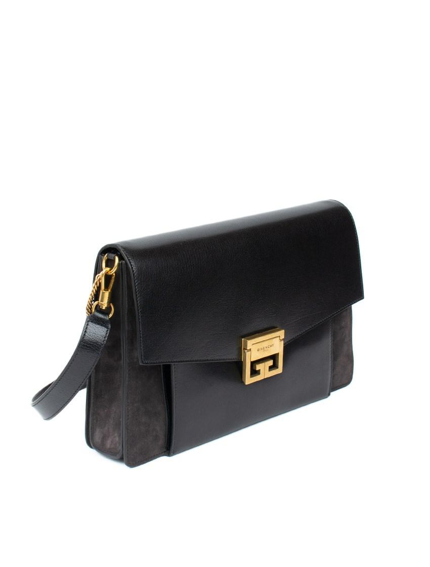 6c34b55ea737 Lyst - Givenchy Gv3 Bag In Leather And Suede in Black