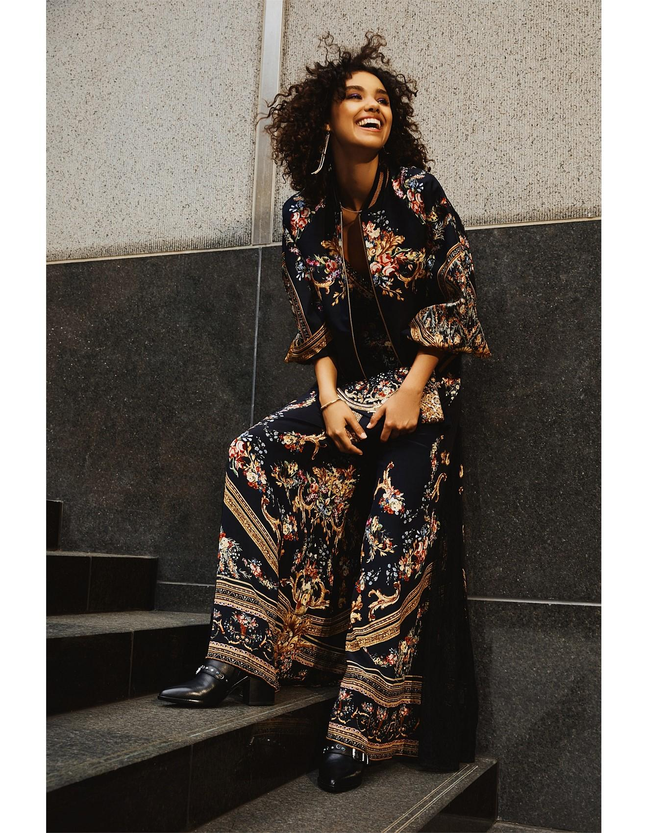 2164d61857f8 Camilla Friend In Flora Jumpsuit With Lace Insert in Black - Lyst
