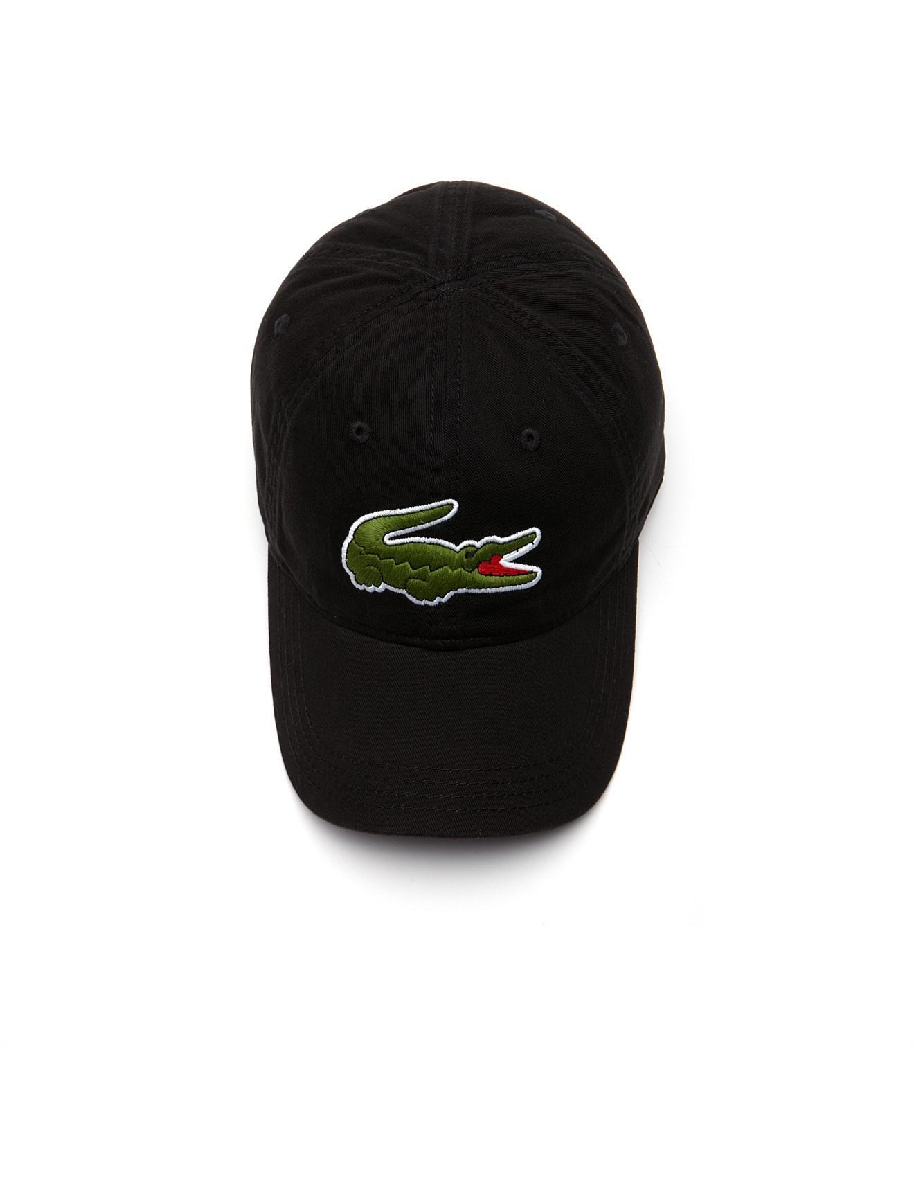 603468eeb8e1 Lacoste Large Croc Cap in Black for Men - Save 30% - Lyst