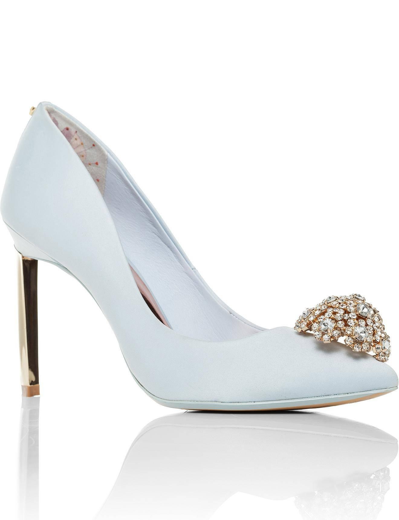 f1851b61d70ca Ted Baker Peetch Pump W Crystal Rosette in Blue - Lyst