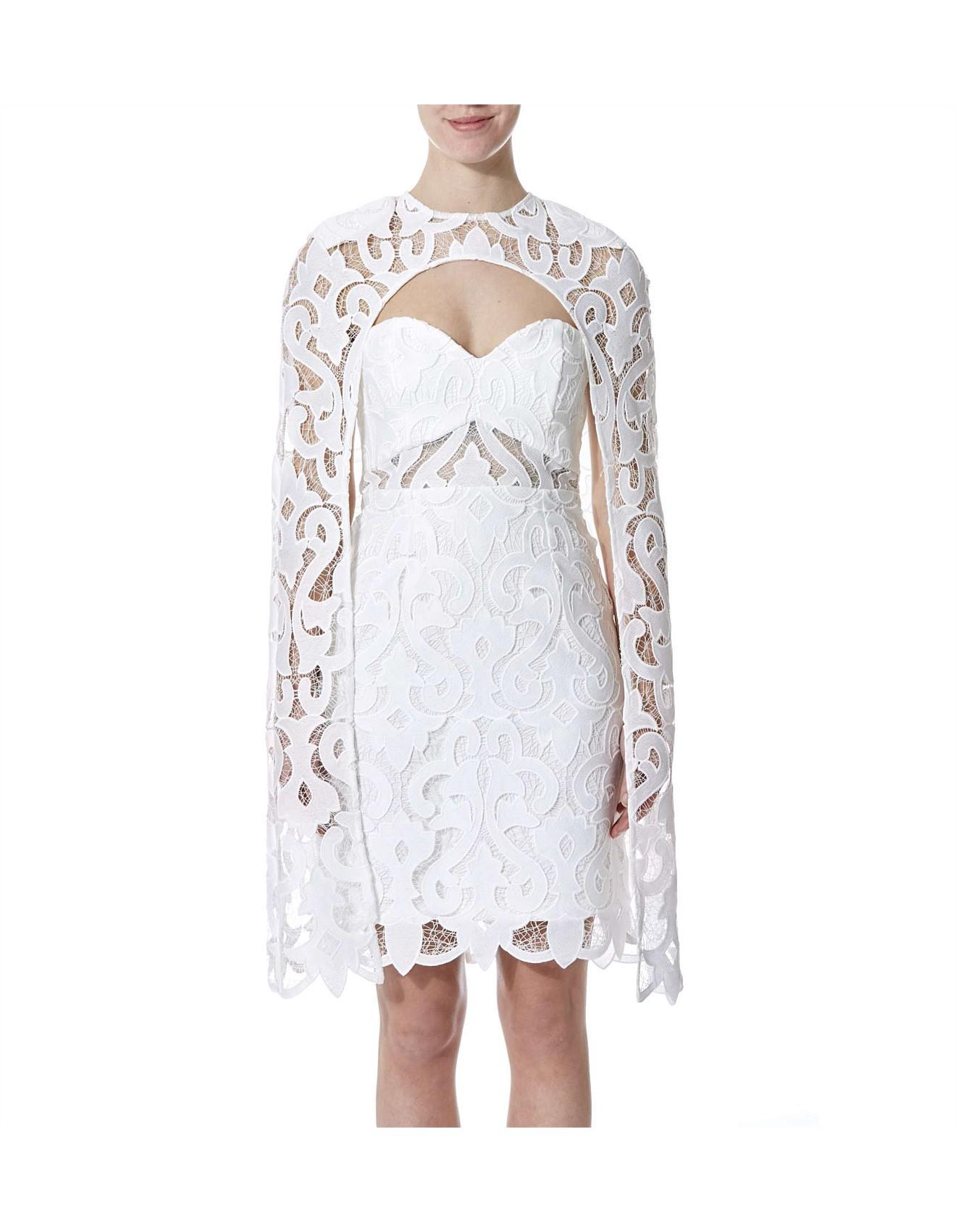 48370ccad50 Thurley Khalessi Cape Dress in White - Lyst