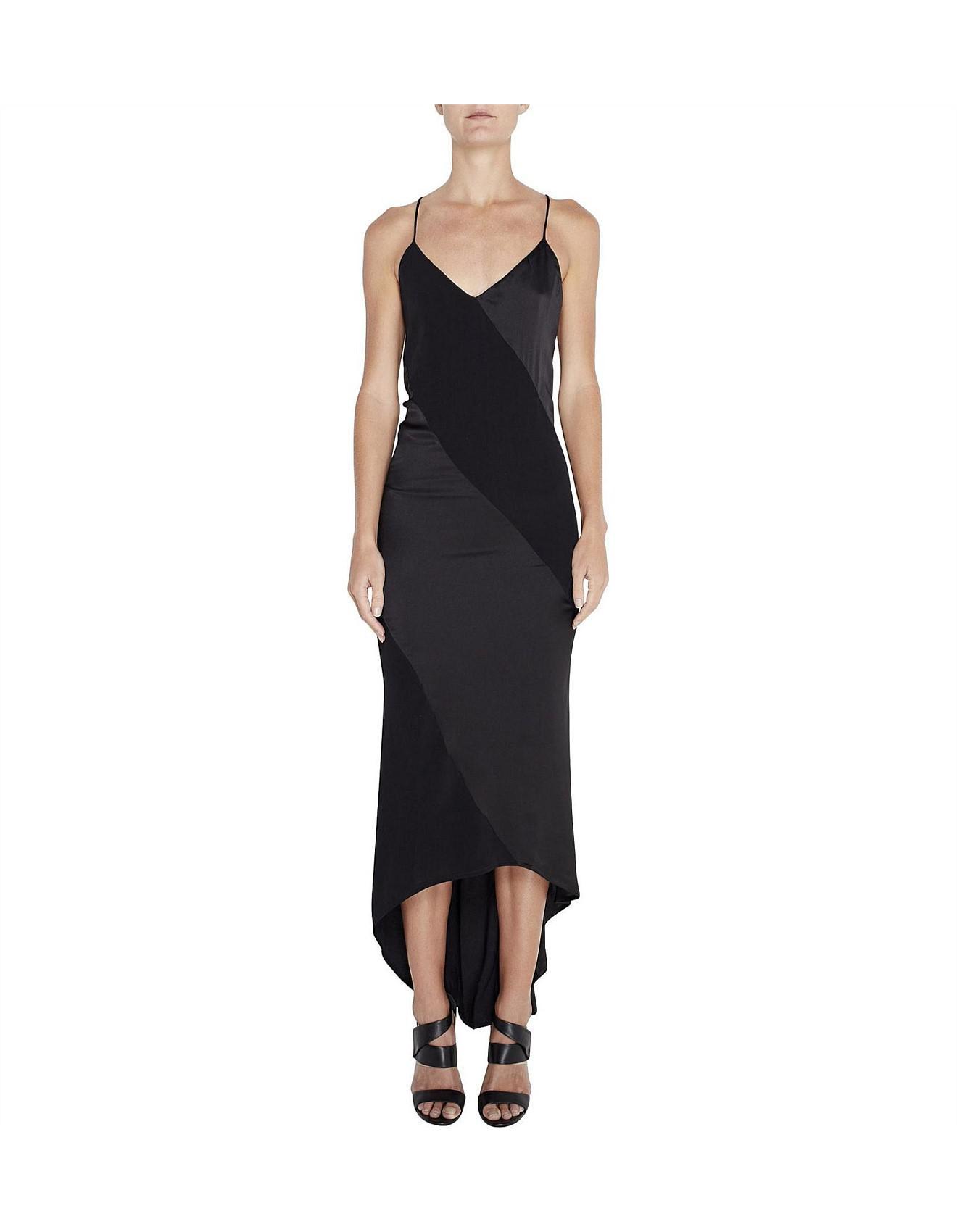 737989a3f2db8 MLM Label Lennox Slip Dress in Black - Lyst