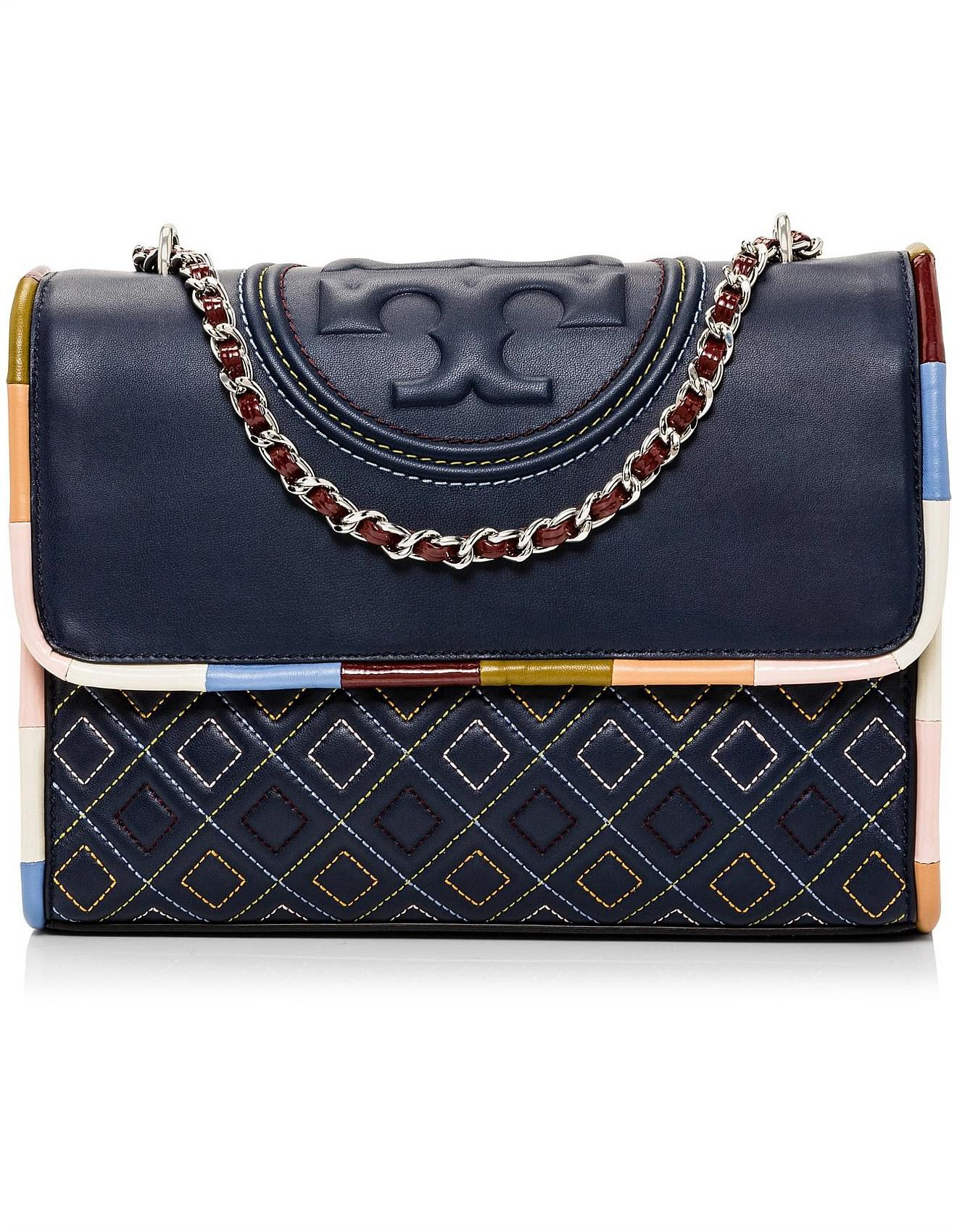 Tory Burch Fleming Piping Shoulder Bag in Blue - Lyst 783a626030f52