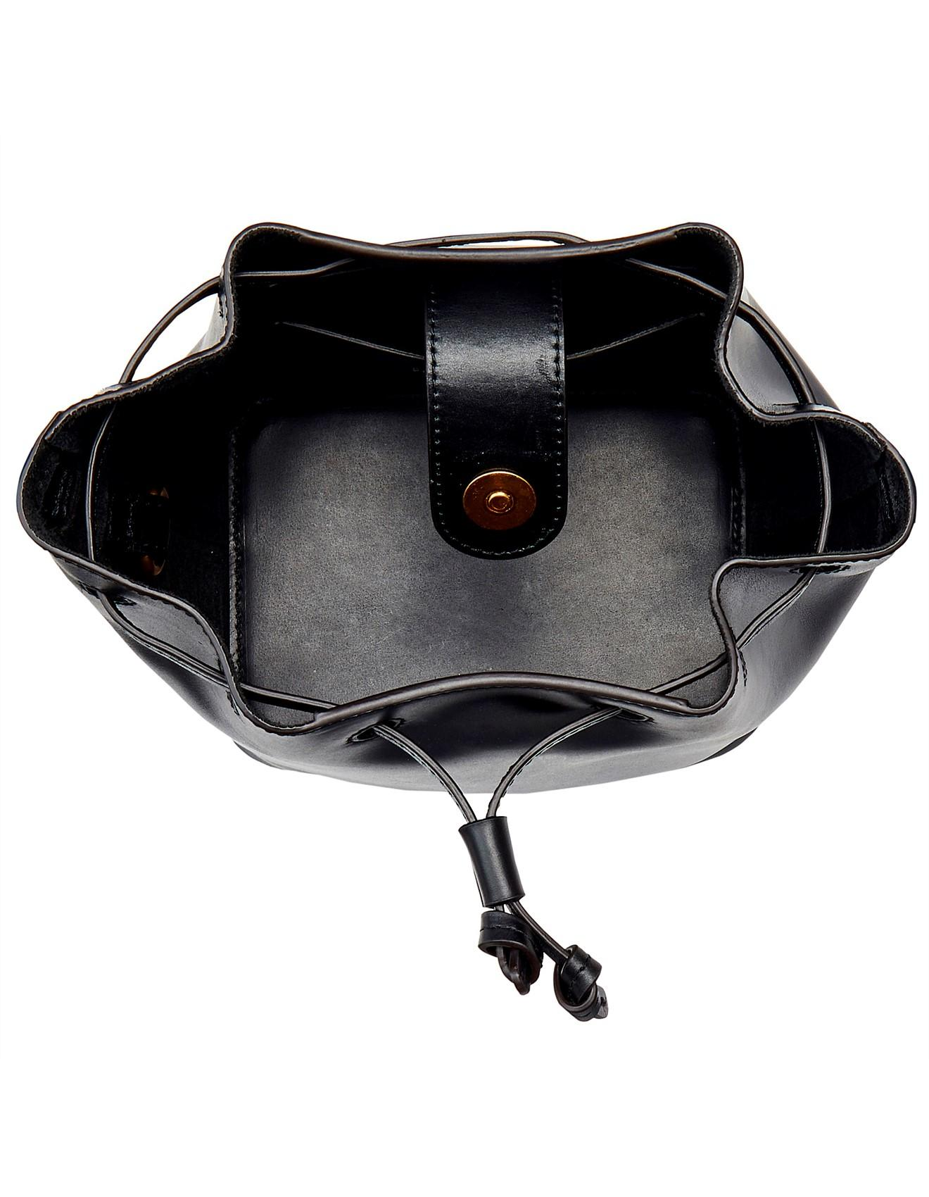 e57bc9ef1e7a Oroton Escape Mini Bucket Bag in Black - Lyst