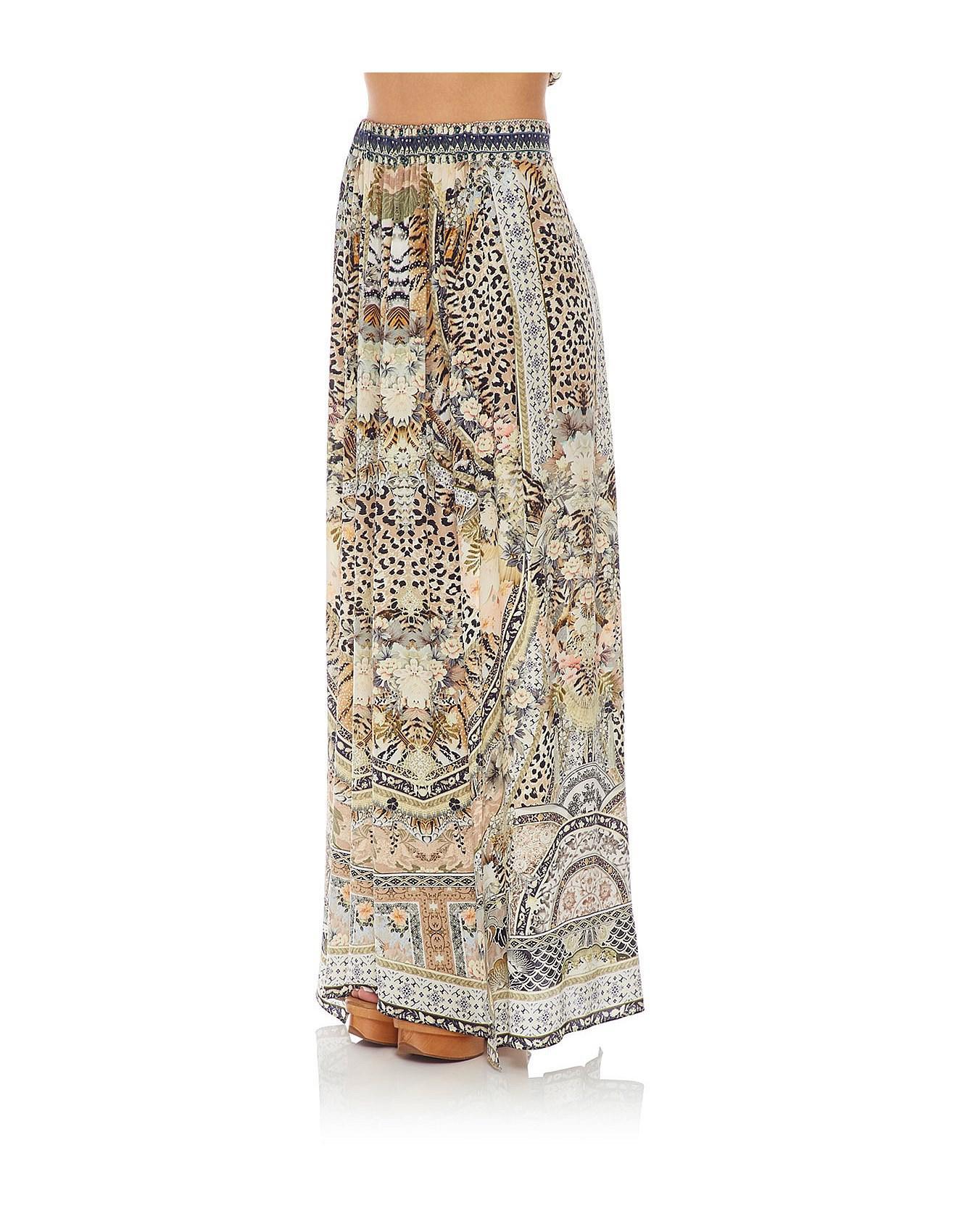 5a840d175 Camilla Moto Maiko Elastic Waist Skirt With Splits - Lyst