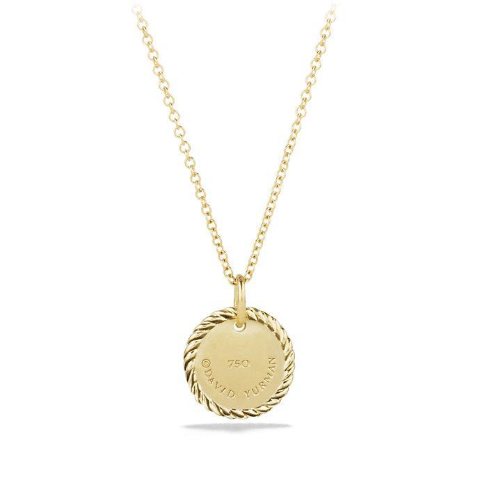 18kt yellow gold Cable Collectibles Quatrefoil diamond pendant necklace - Unavailable David Yurman WZrNk