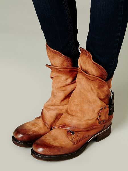 Free People A S 98 Womens Emerson Ankle Boot In Brown Tan