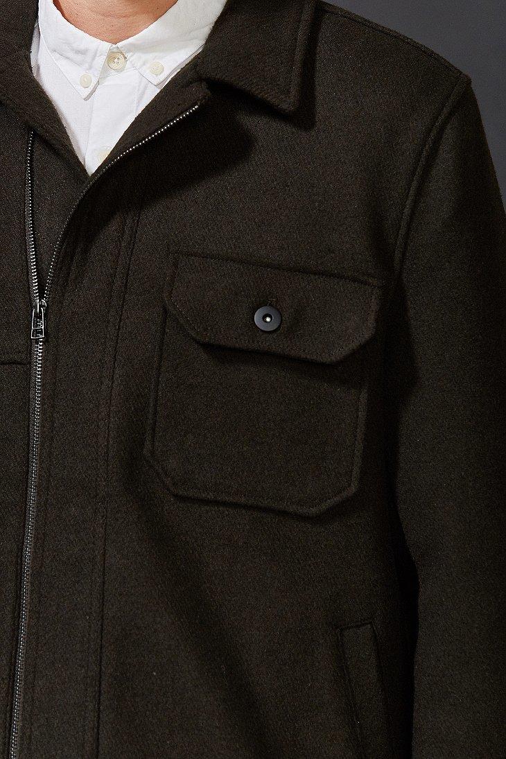 Lyst Your Neighbors Wool Zip Trucker Jacket In Black For Men