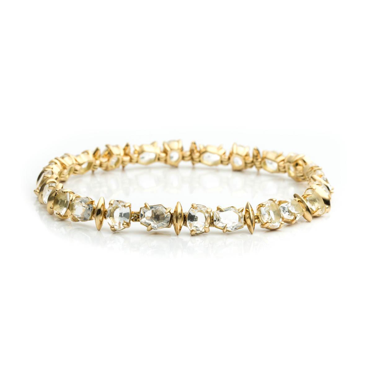 Alexis bittar Golden Ice Marquis Delicate Tennis Bracelet ...