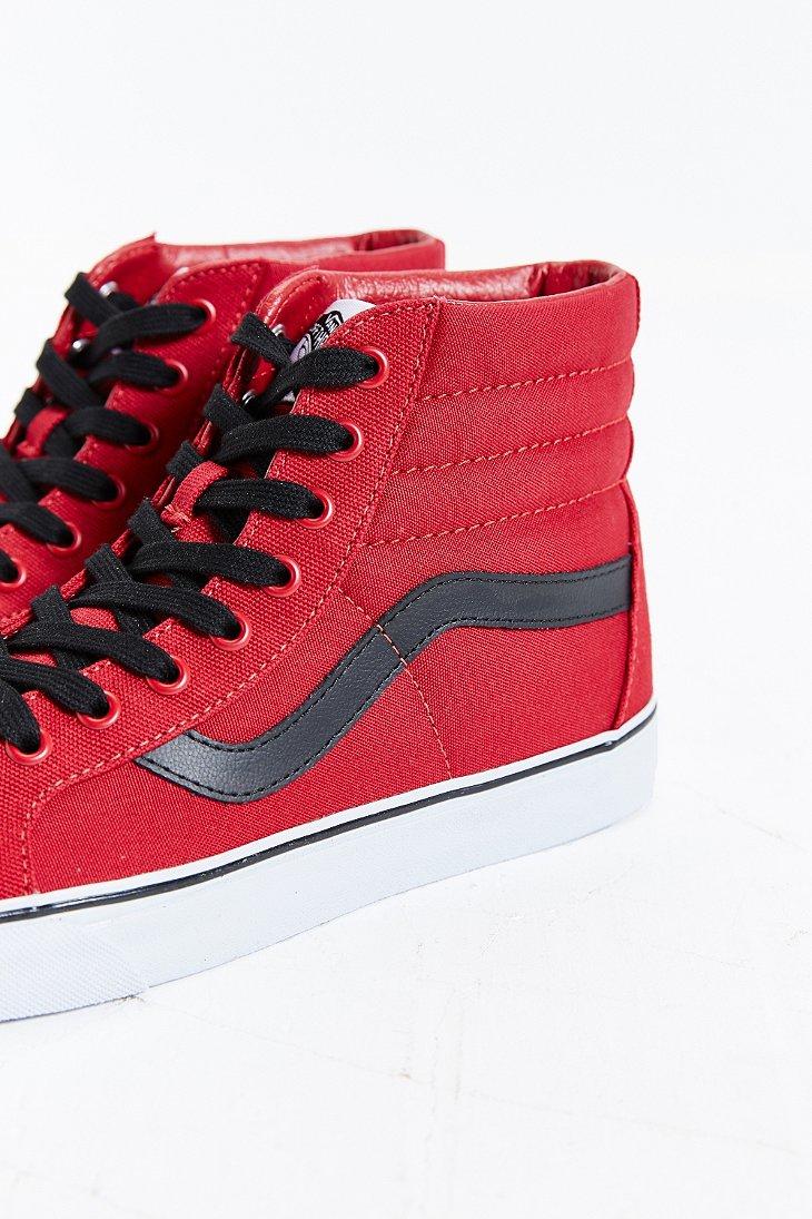 vans sk8 hi reissue canvas sneaker in red for men lyst. Black Bedroom Furniture Sets. Home Design Ideas