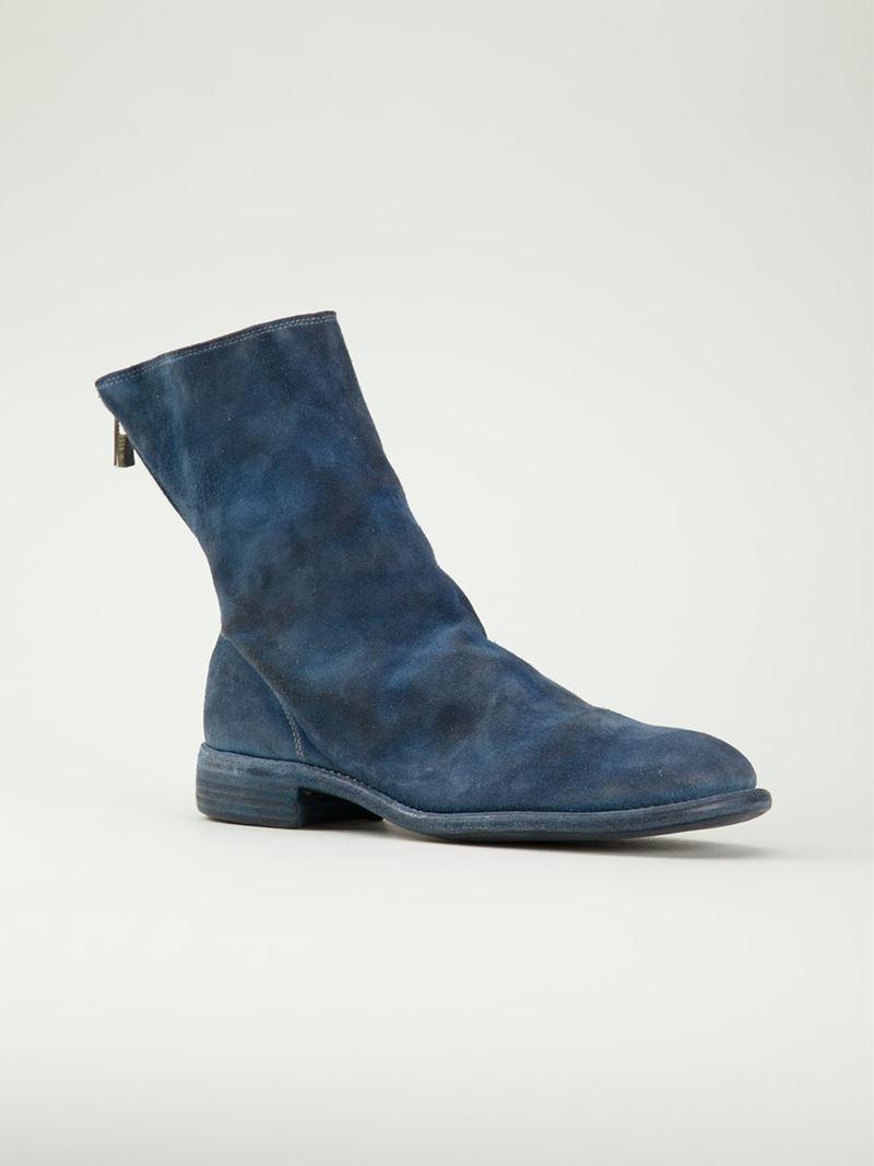 Bottes 'inverse De Cerf Guidi - Bleu 0XRbQfb