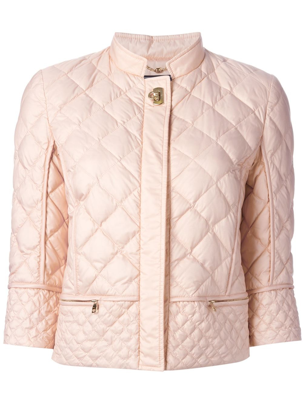 Lyst Ferragamo Quilted Jacket In Pink