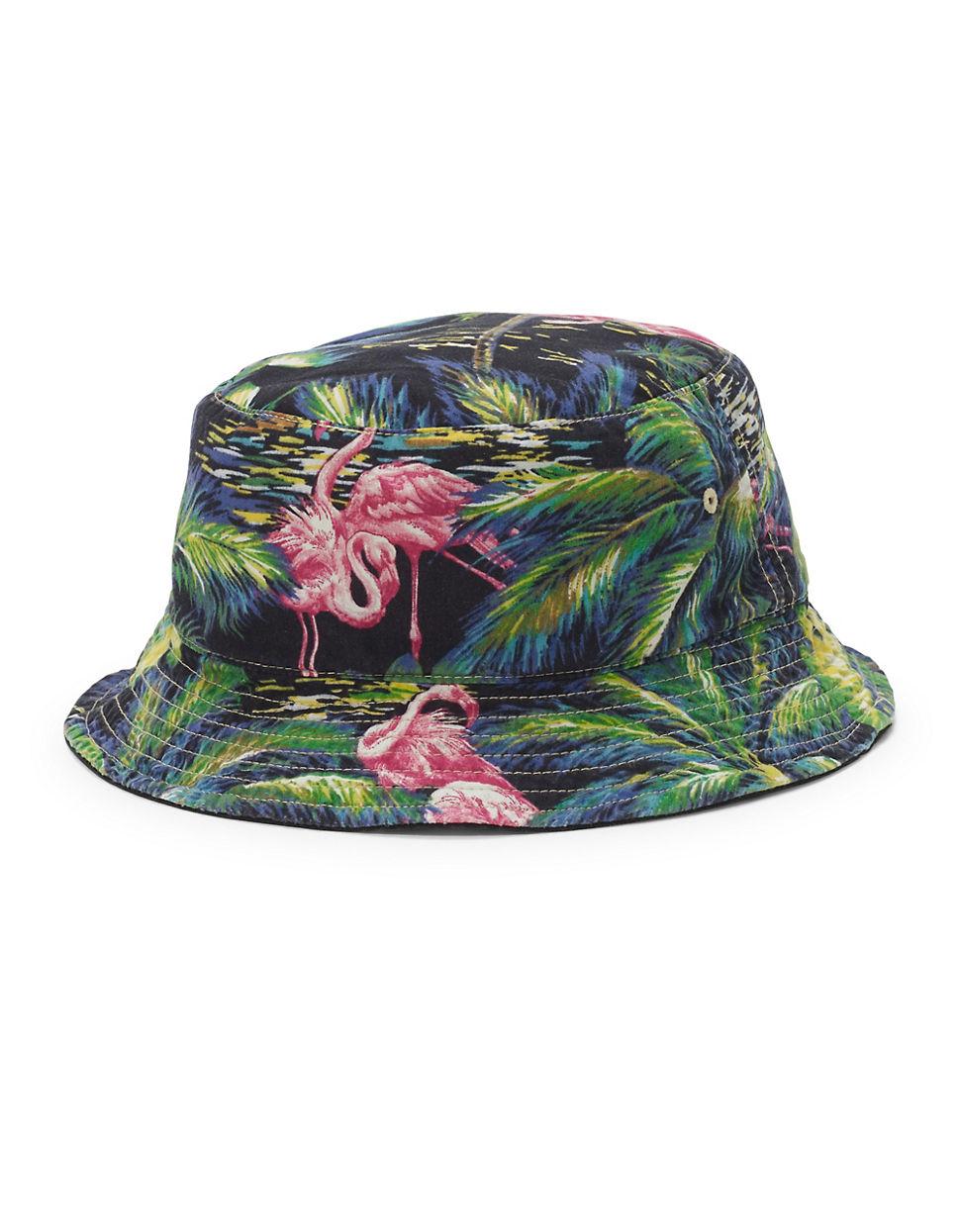 025a0f318c086 Polo Ralph Lauren Flamingo-print Reversible Bucket Hat in Black - Lyst