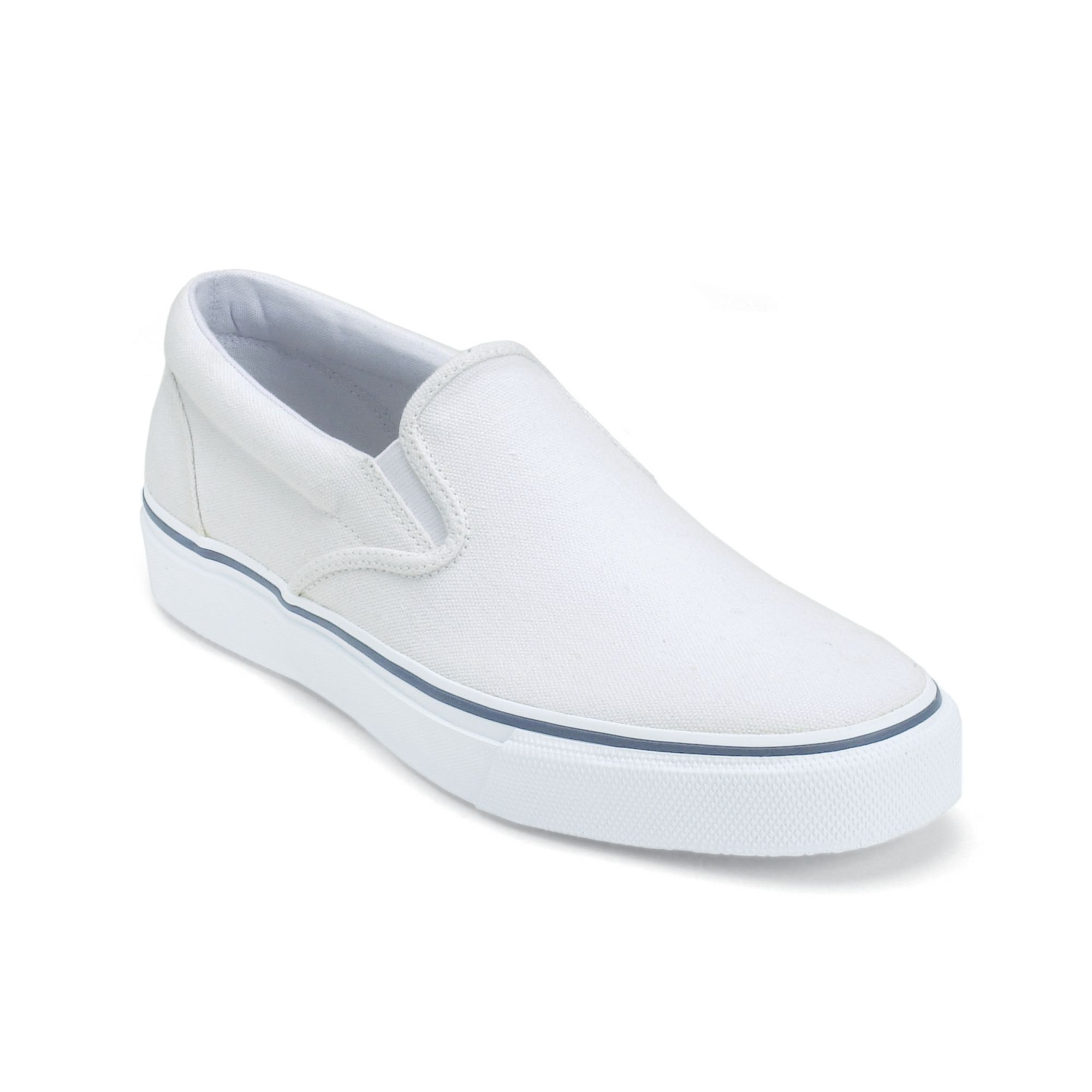 sperry top sider s striper slip on sneakers in white
