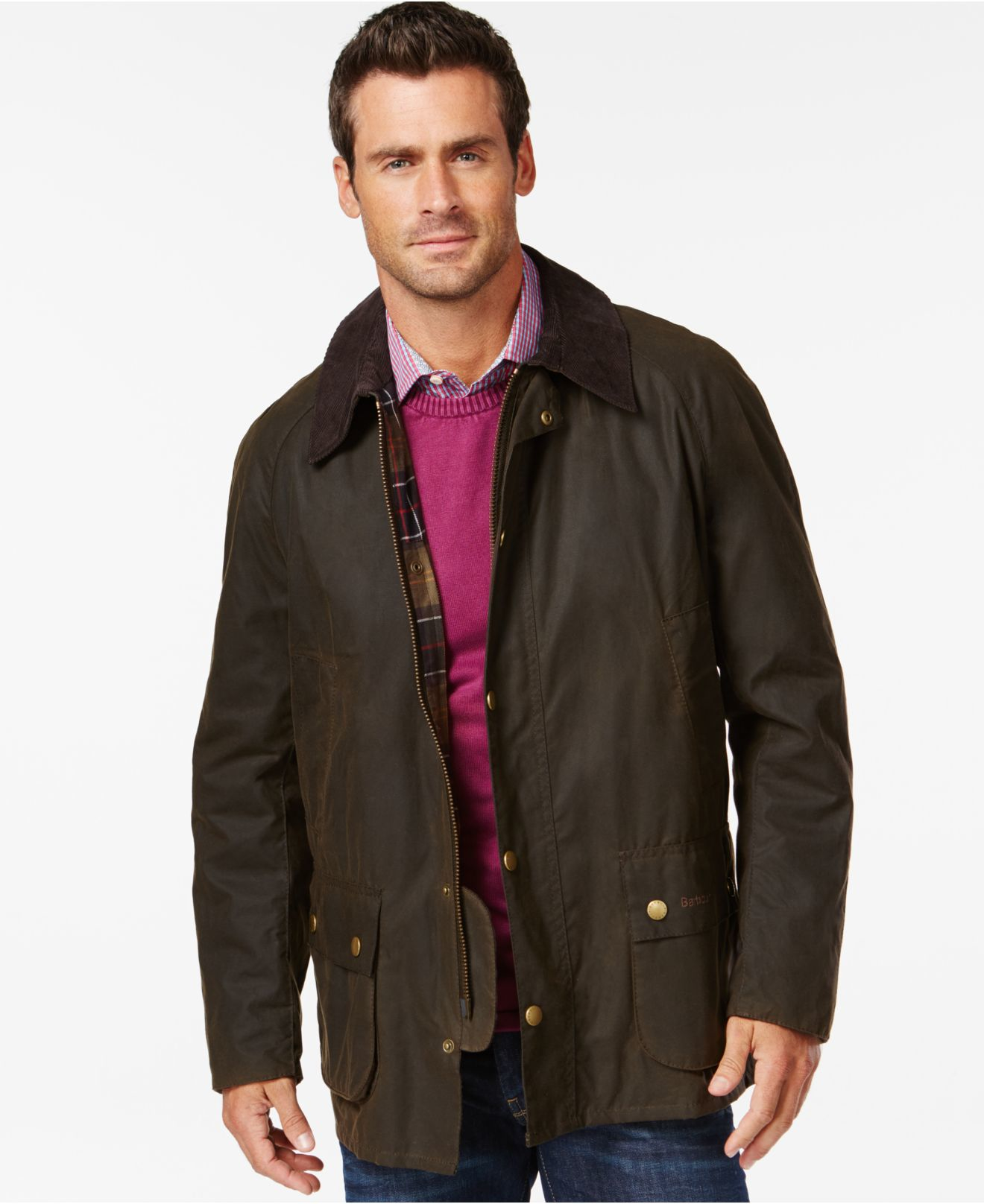 Barbour Ashby Wax Jacket in Green for Men (Olive) Lyst
