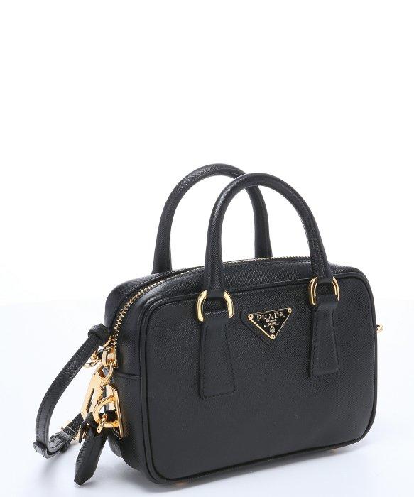 ... two bl0852blue 00e3c 67bae new arrivals lyst prada black saffiano  leather mini convertible top handle bag 58b53 b3b3f ... bc24a89c68d28