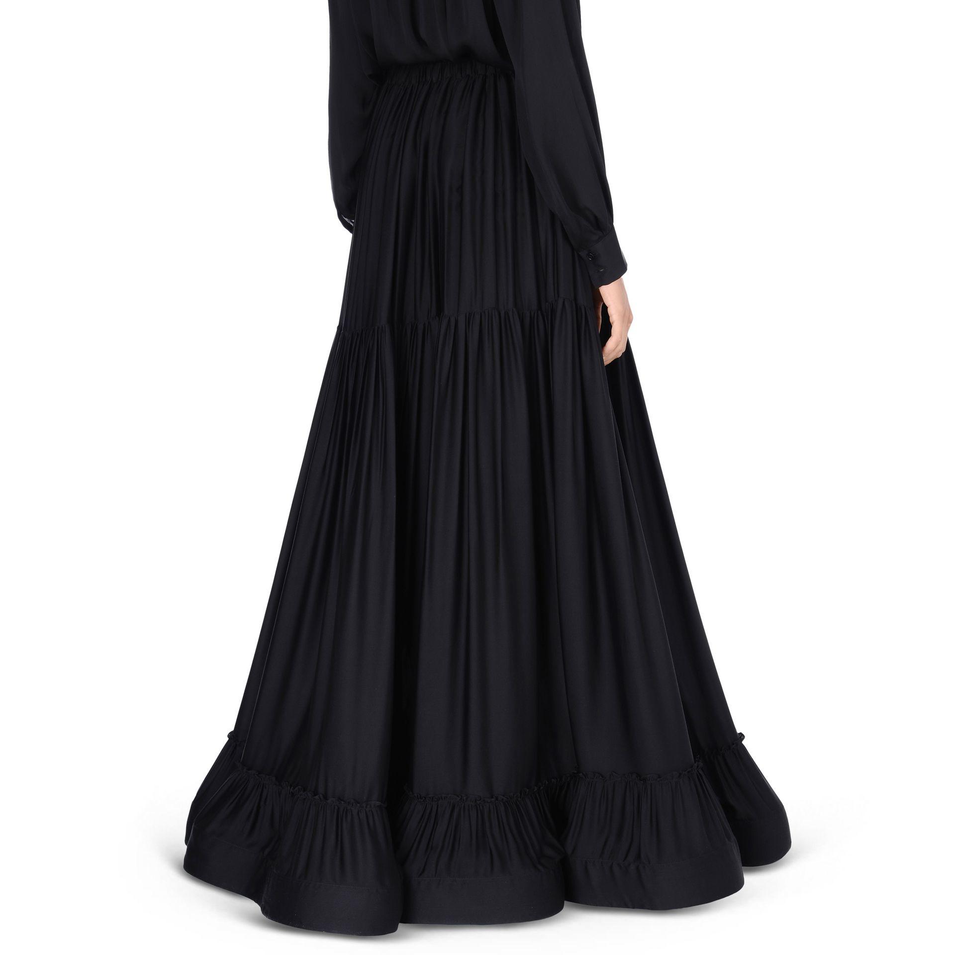 stella mccartney silk maxi skirt in black lyst