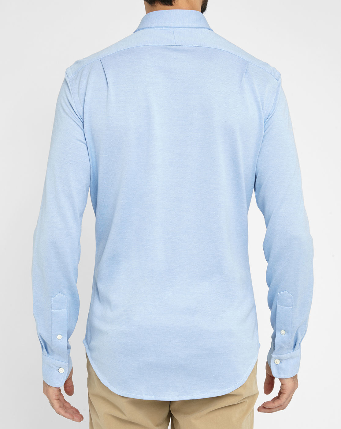 Polo ralph lauren sky blue jersey piqu shirt in blue for for Ralph lauren polo jersey shirt