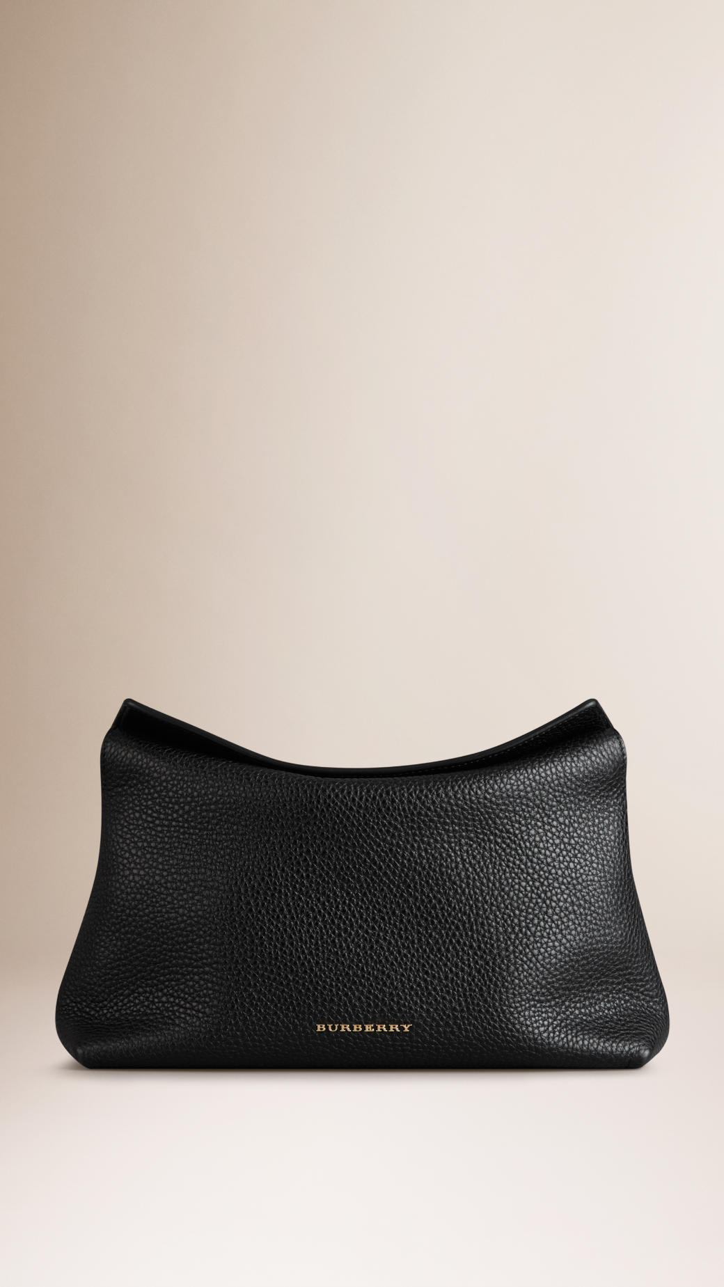 Burberry Small Grainy Leather Clutch Bag in Black | Lyst