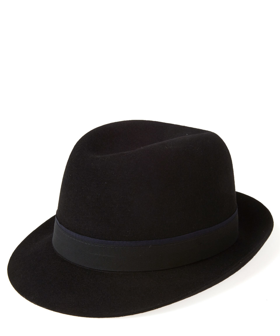 christys black snap trilby hat in black lyst