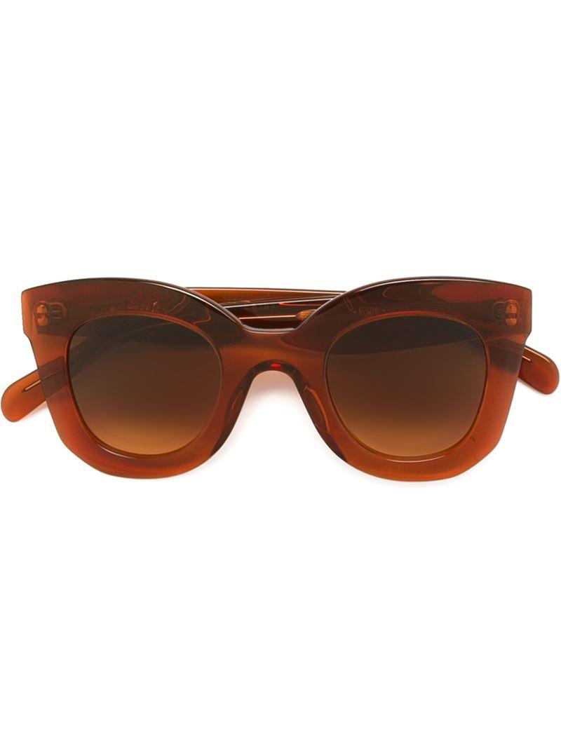 966b82b9e0 Céline Oversized Cat Eye Sunglasses in Brown - Lyst