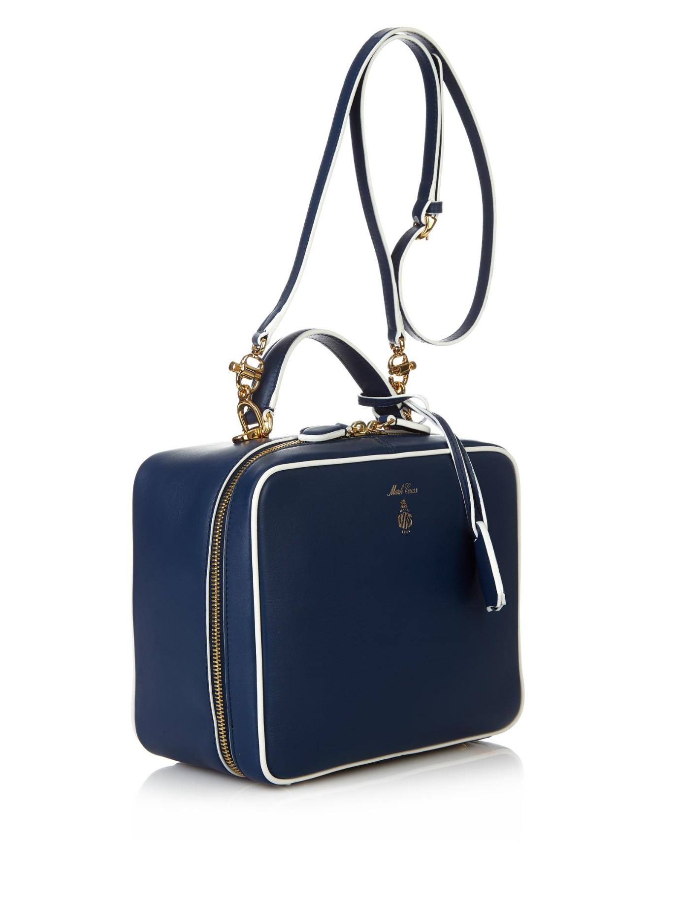 3d663643b32f Lyst - Mark Cross  laura  Shoulder Bag in Blue