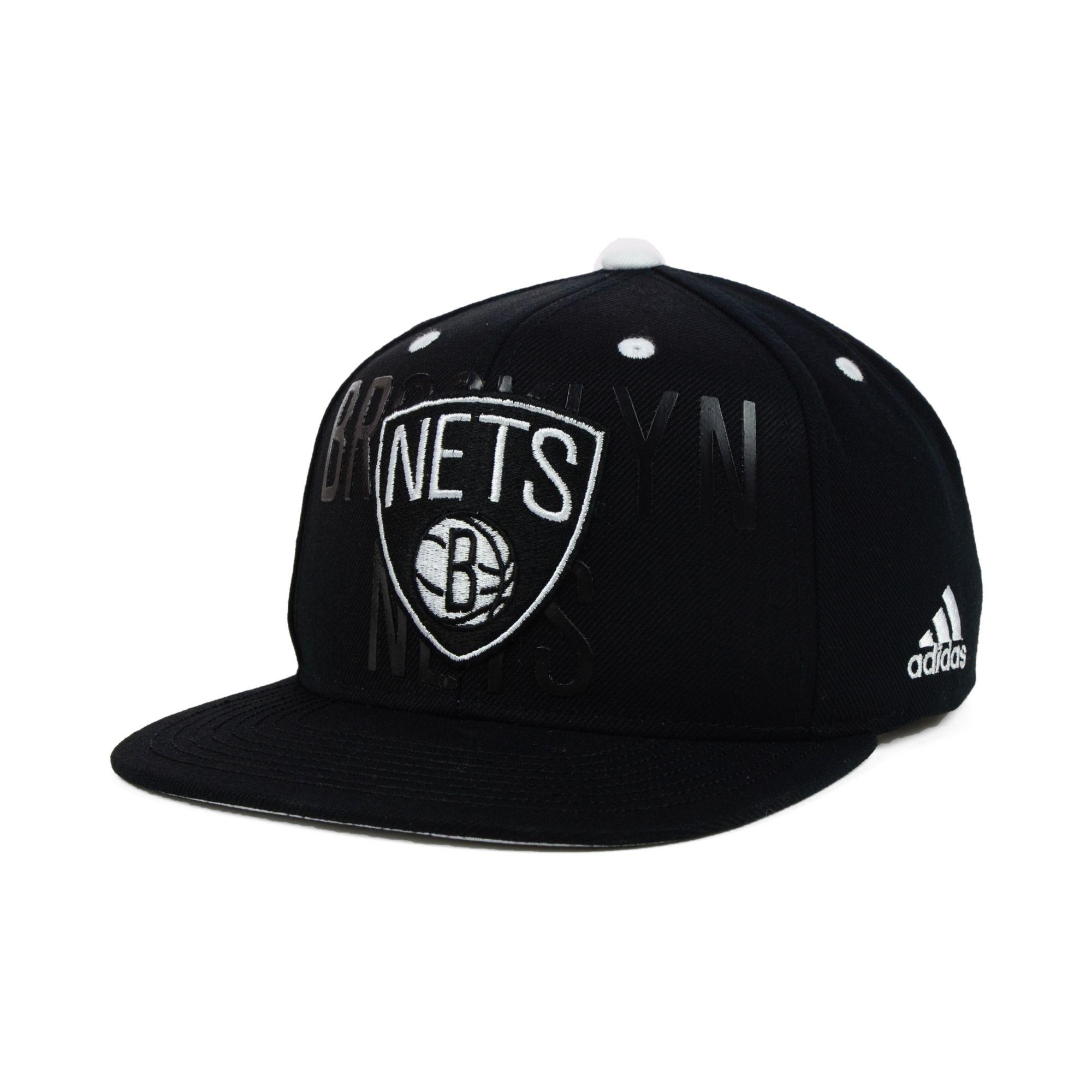 af03a2f5e41 Lyst - adidas Brooklyn Nets Nba Draft Snapback Cap in Black for Men