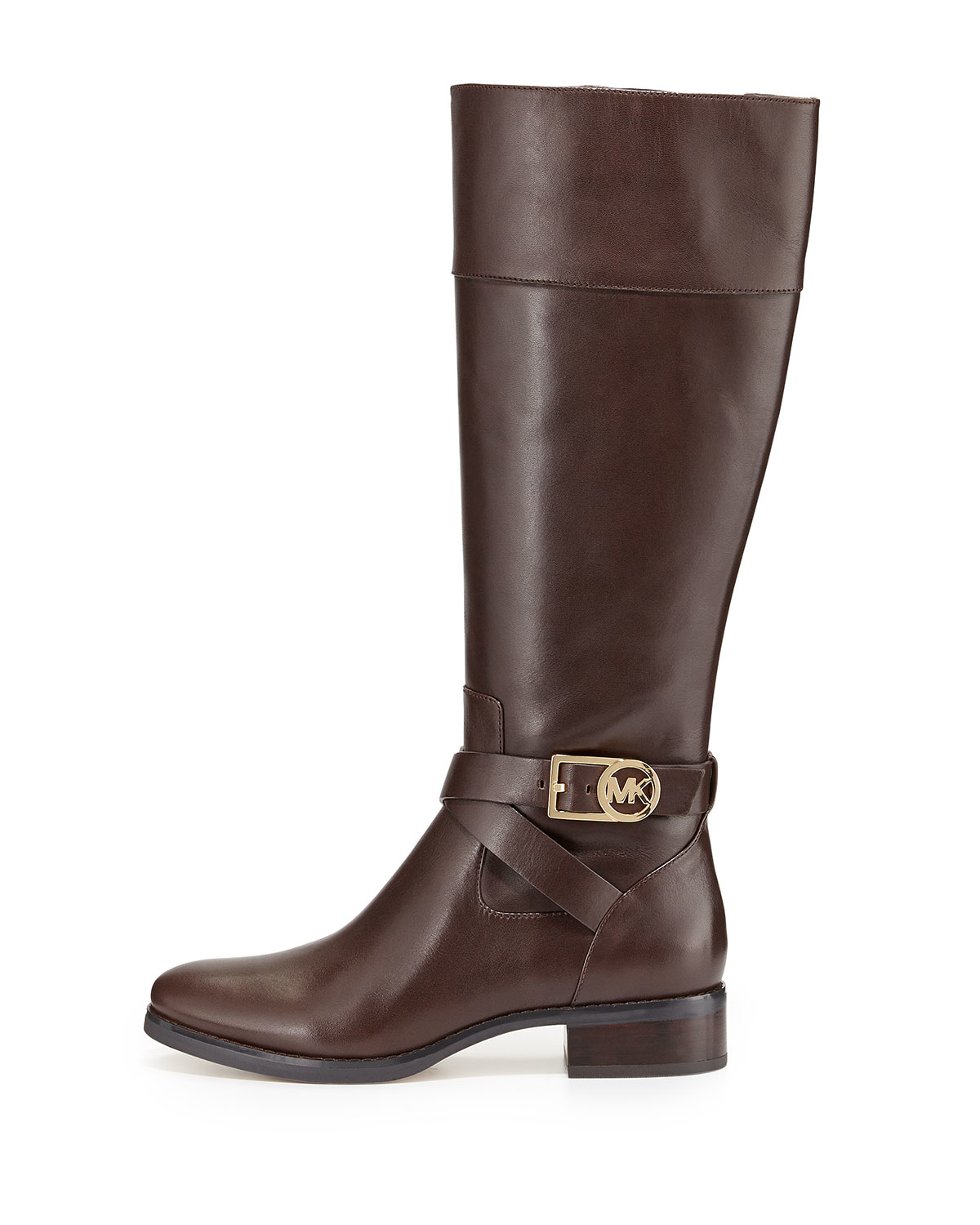 Michael michael kors Bryce Leather Riding Boot in Brown | Lyst