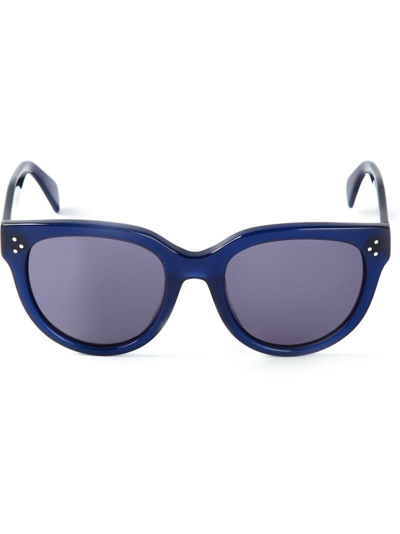 Celine Audrey Sunglasses  céline audrey sunglasses in blue lyst