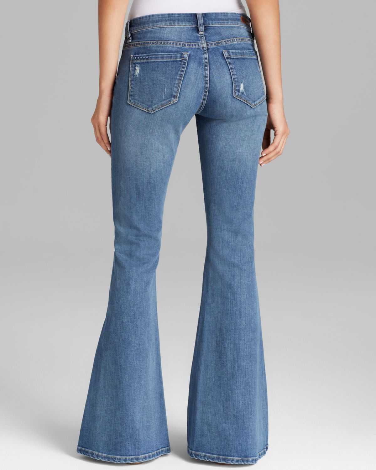 Blank Jeans Flare in Hipstercrite in Blue | Lyst