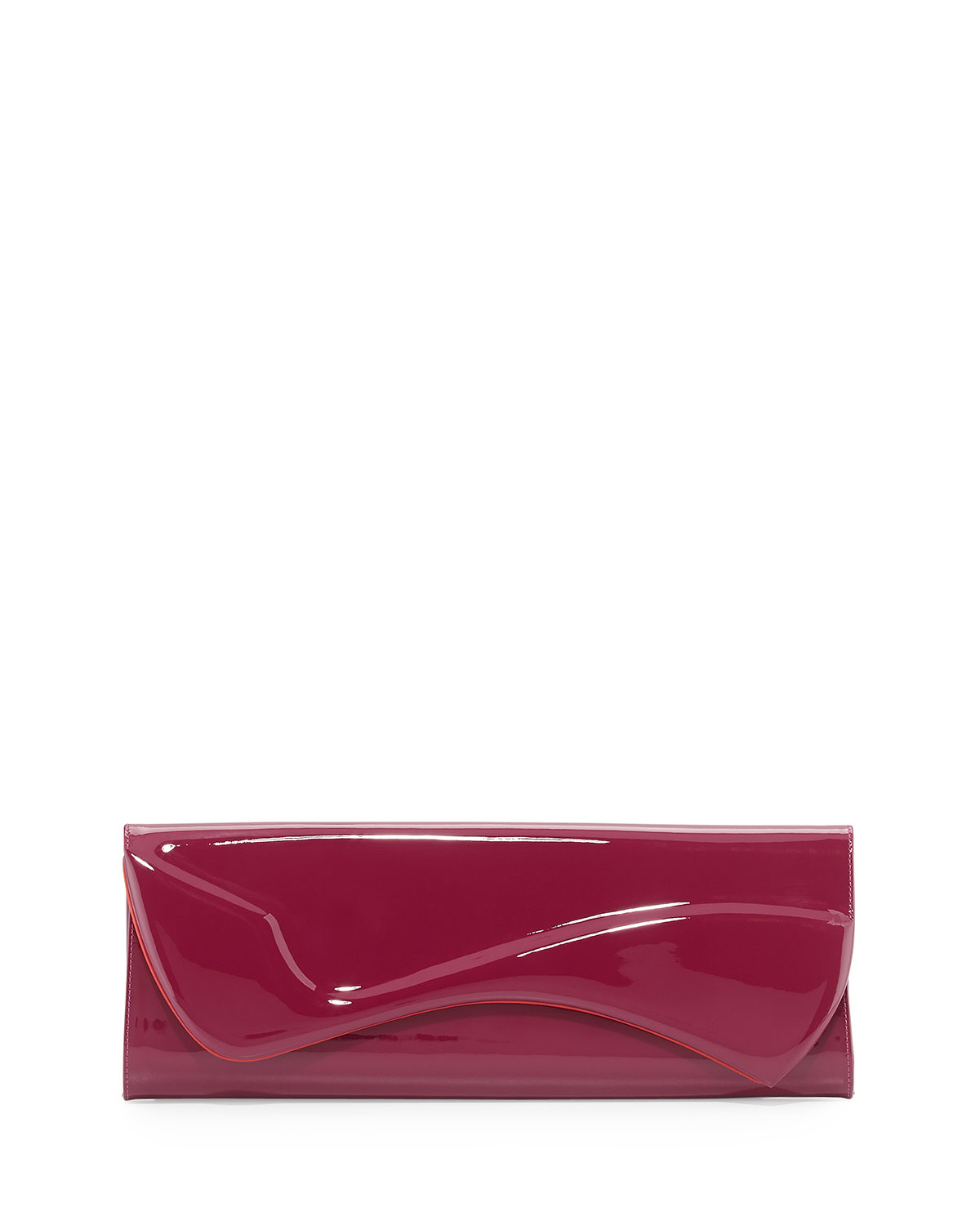 Christian Louboutin Pigalle Patent Clutch Bag in Purple ...