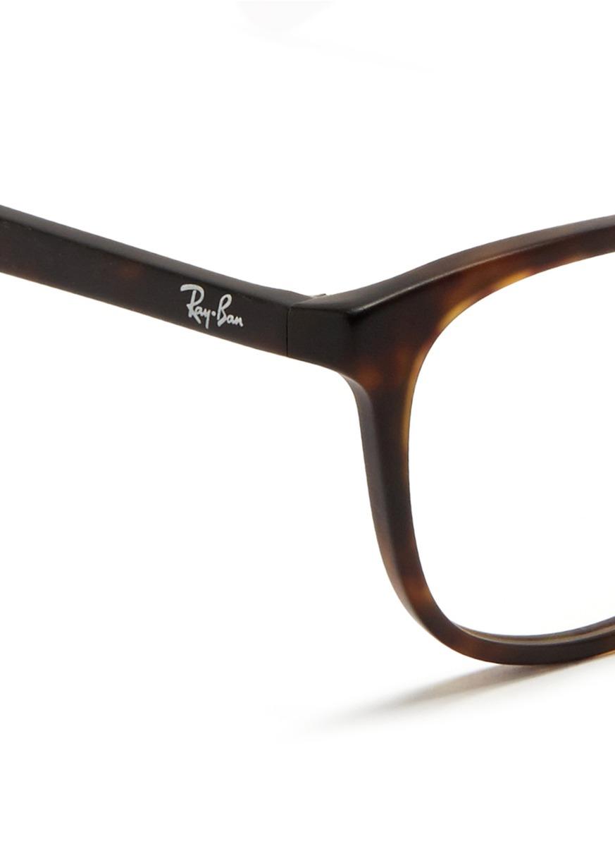 f8fc99685e6 Lyst - Ray-ban Matte Tortoiseshell Acetate Optical Glasses in Brown