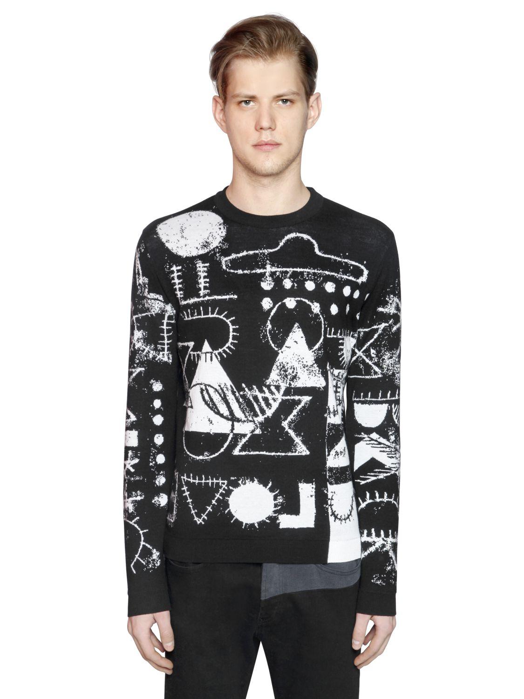 lyst kenzo 39 symbols 39 sweater in black for men. Black Bedroom Furniture Sets. Home Design Ideas