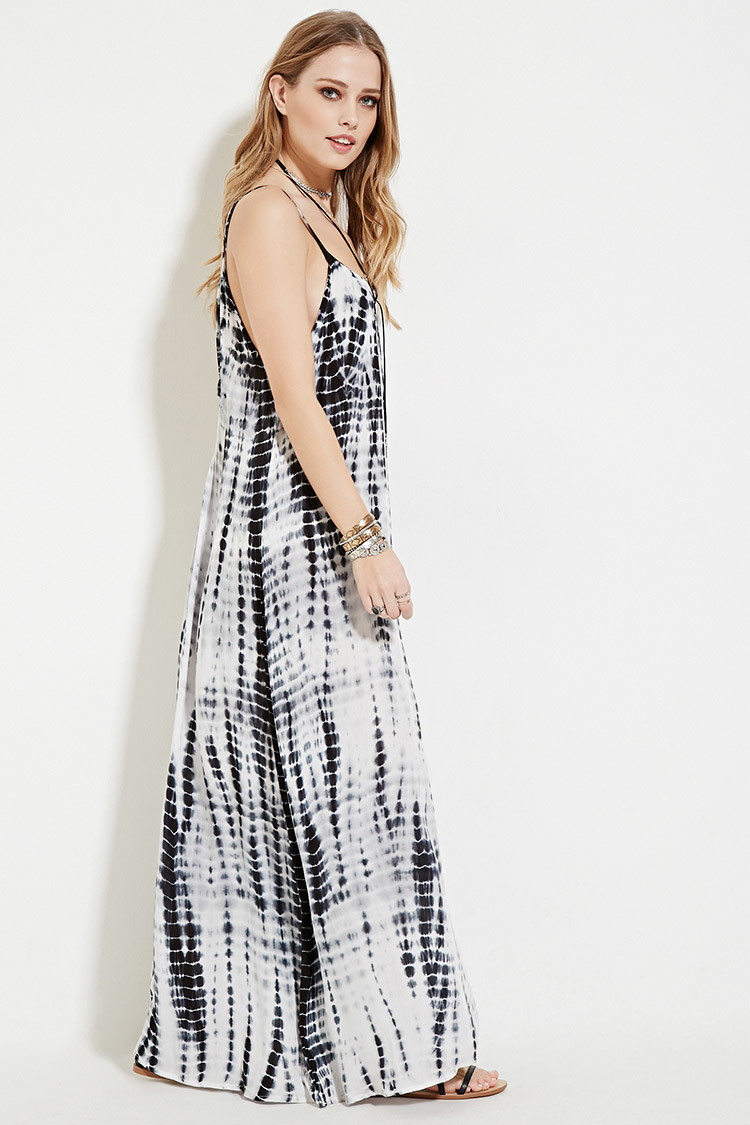 88a90c3af89 Forever 21 Boho Me Tie Dye Maxi Dress in Black - Lyst
