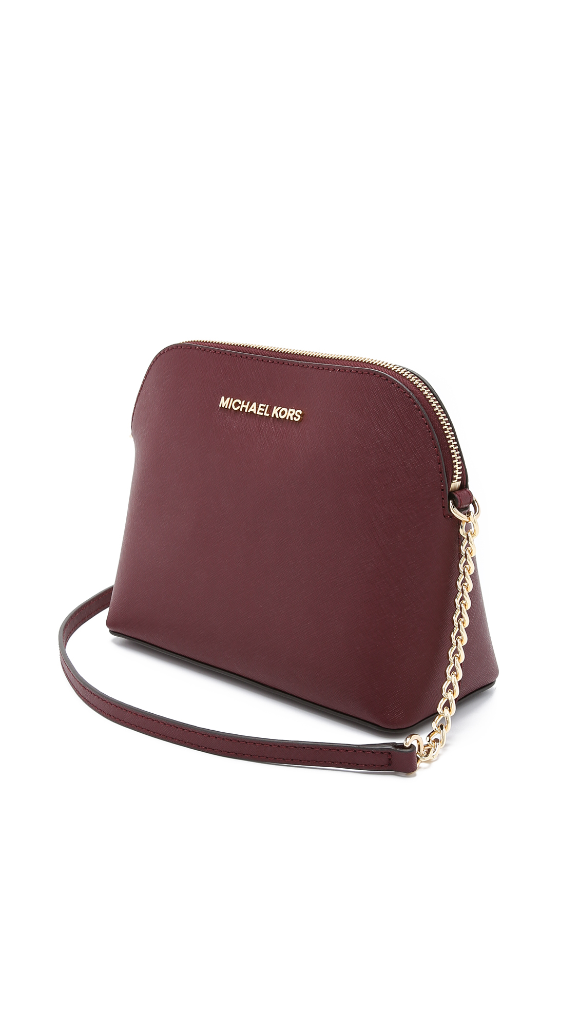 8752e2d204ab Lyst - MICHAEL Michael Kors Cindy Dome Cross Body Bag in Purple