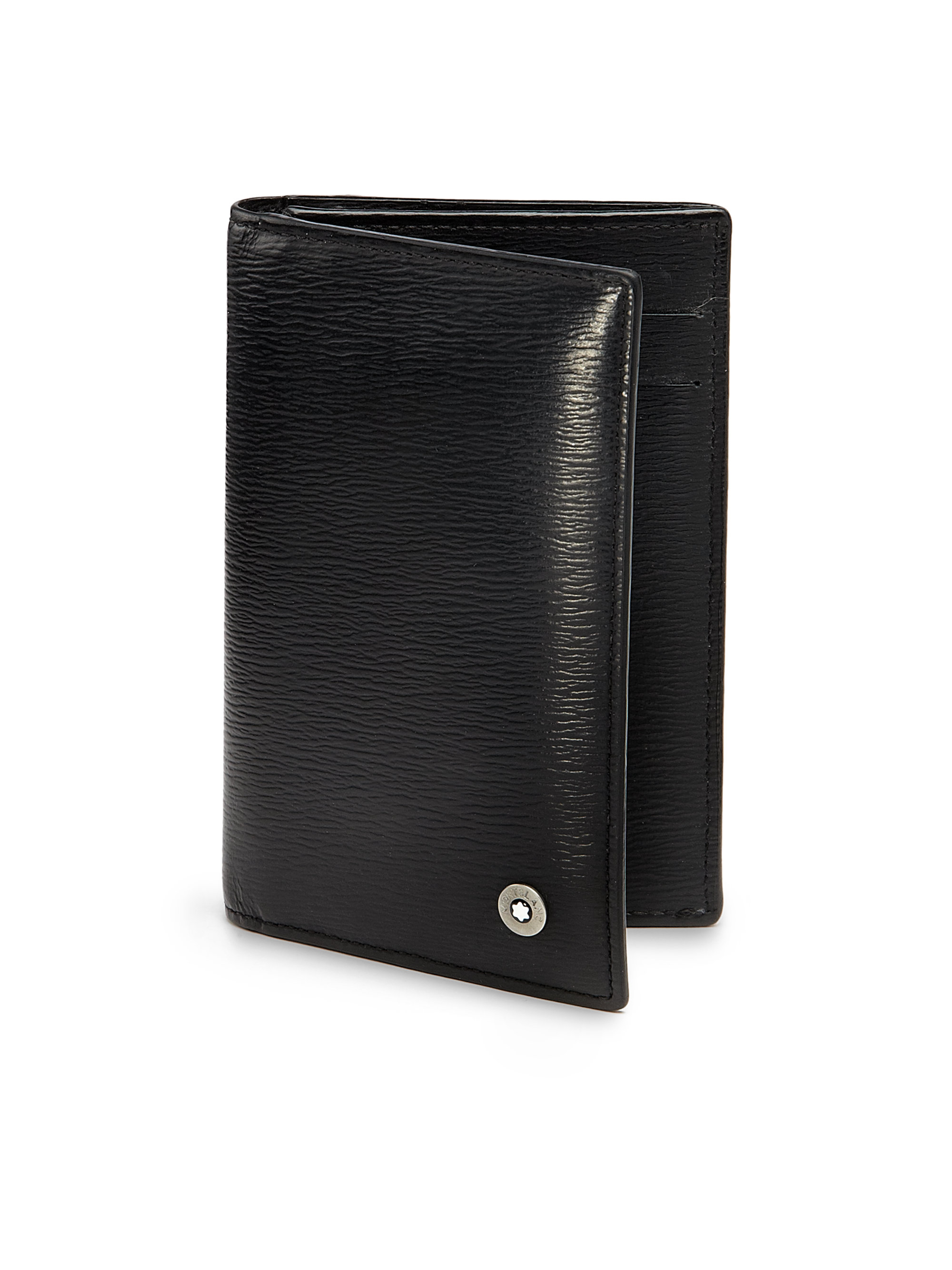Montblanc business card holder in black for men lyst for Black business card holder