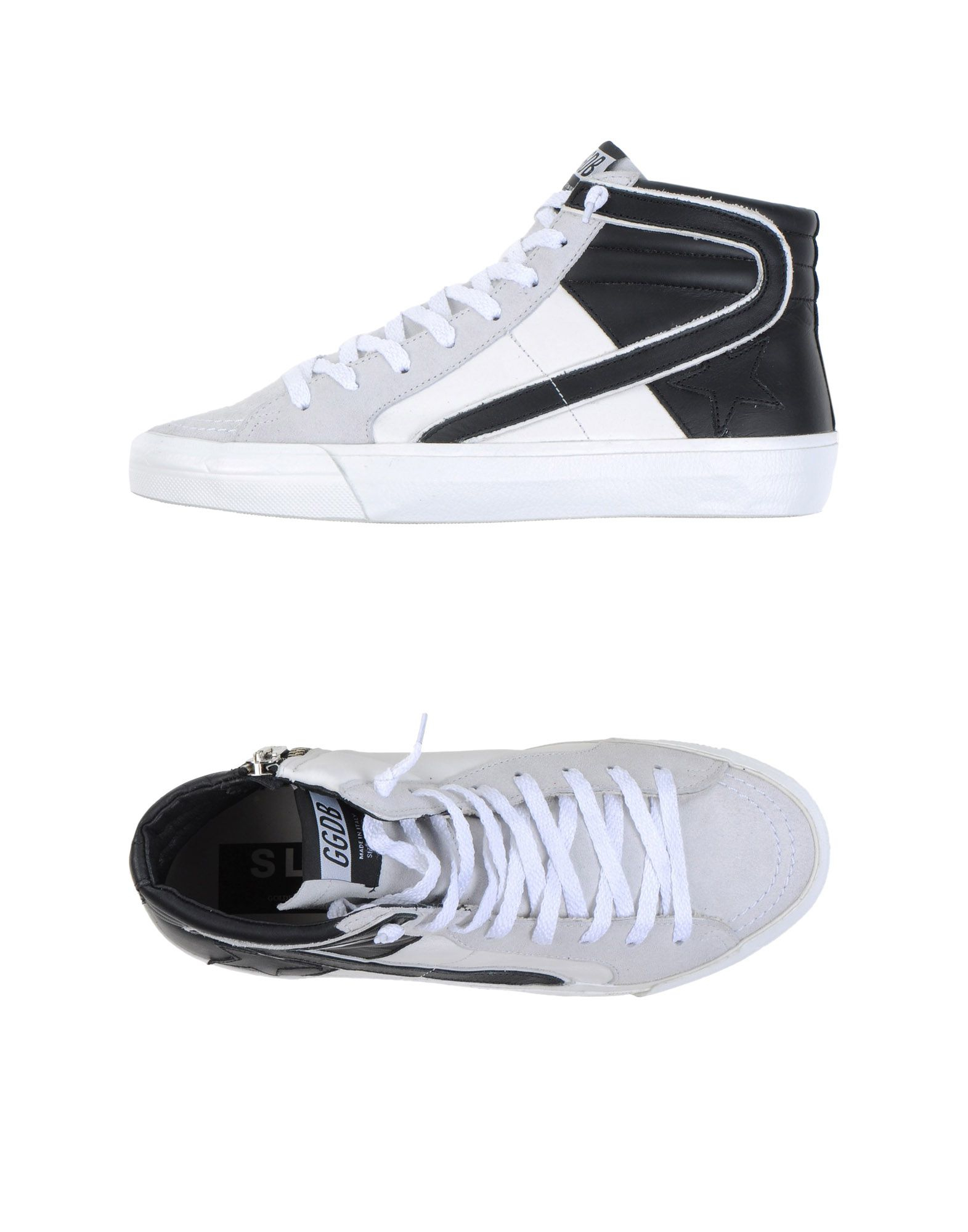 golden goose deluxe brand high tops trainers in gray light grey lyst. Black Bedroom Furniture Sets. Home Design Ideas