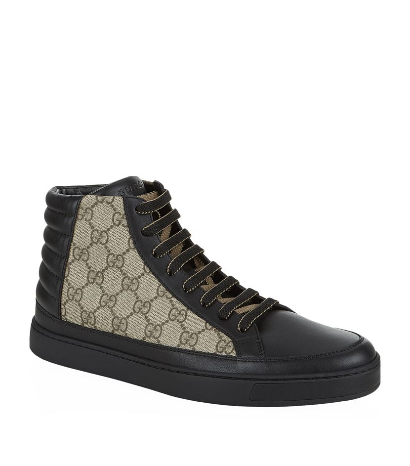 gucci common logo high top sneaker in black for men lyst. Black Bedroom Furniture Sets. Home Design Ideas