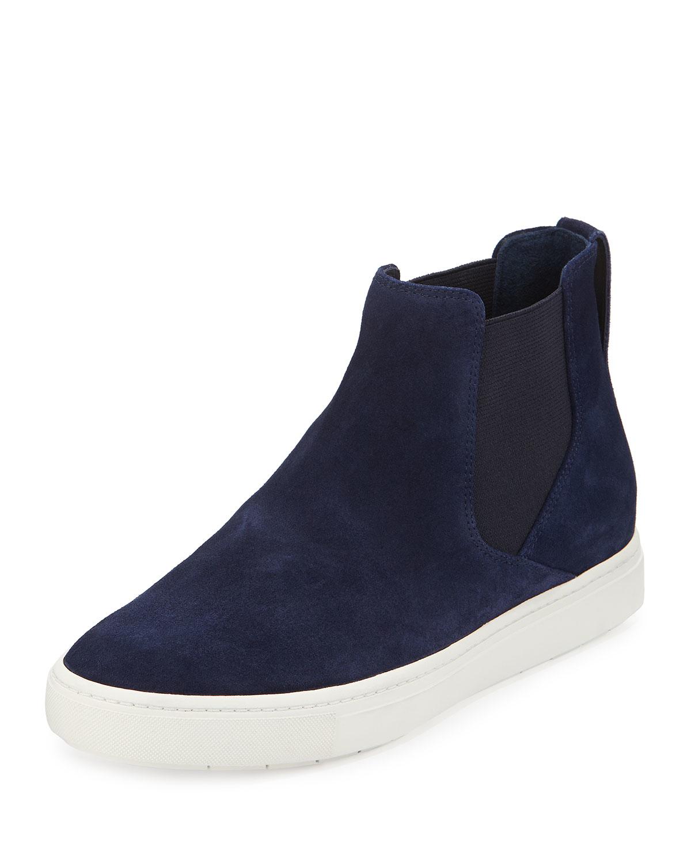 vince newlyn suede sneaker hybrid in blue bleu marine lyst. Black Bedroom Furniture Sets. Home Design Ideas