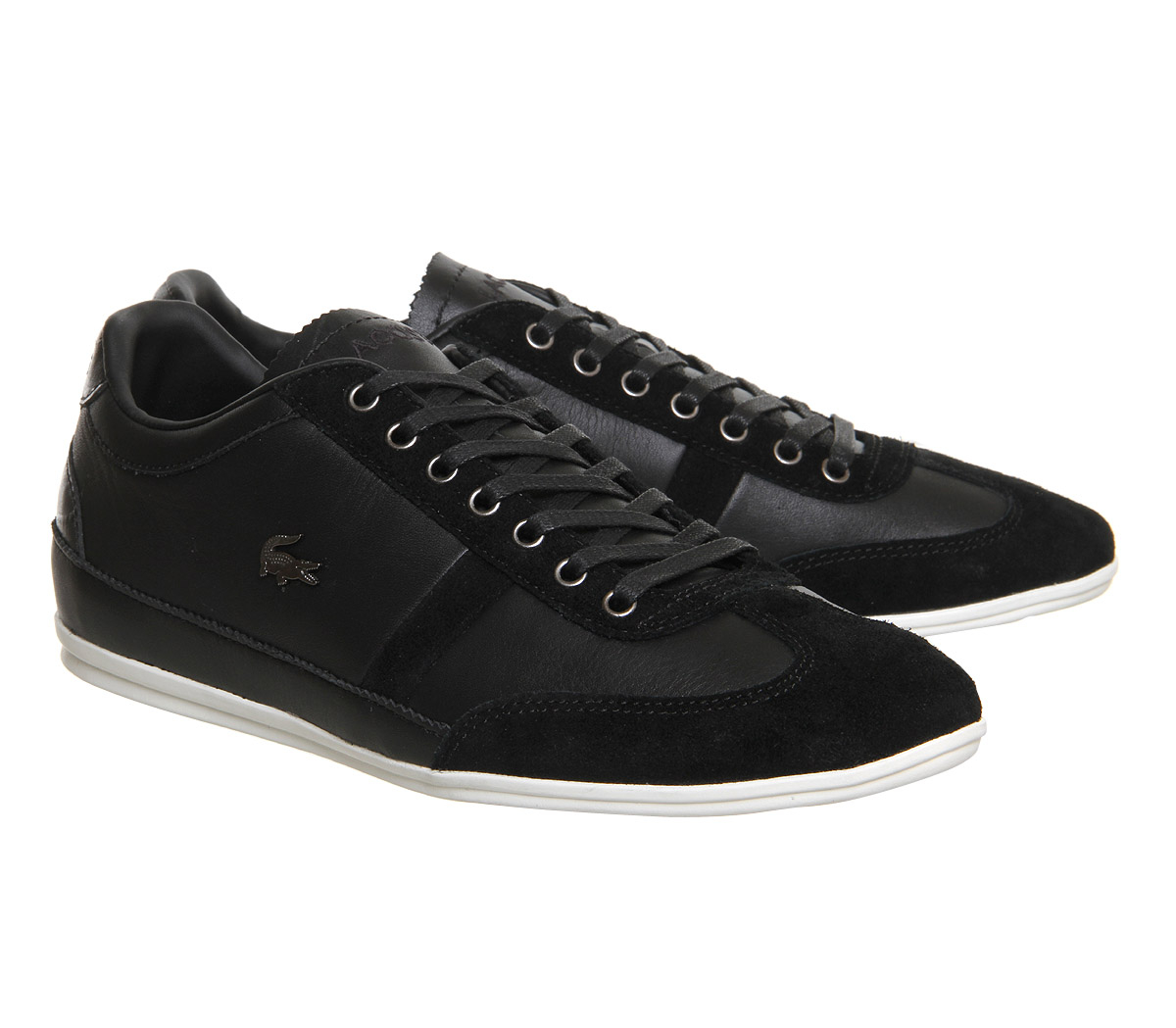 b52a3fef76a5c0 mens lacoste dark brown misano 22 trainers