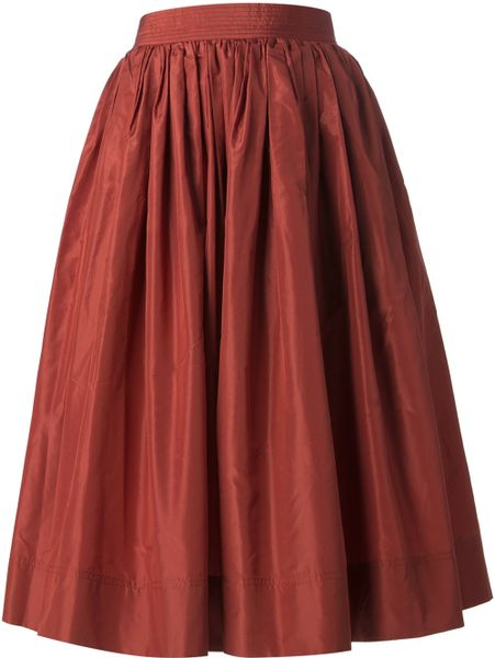 rewind vintage affairs pleated a line skirt in lyst