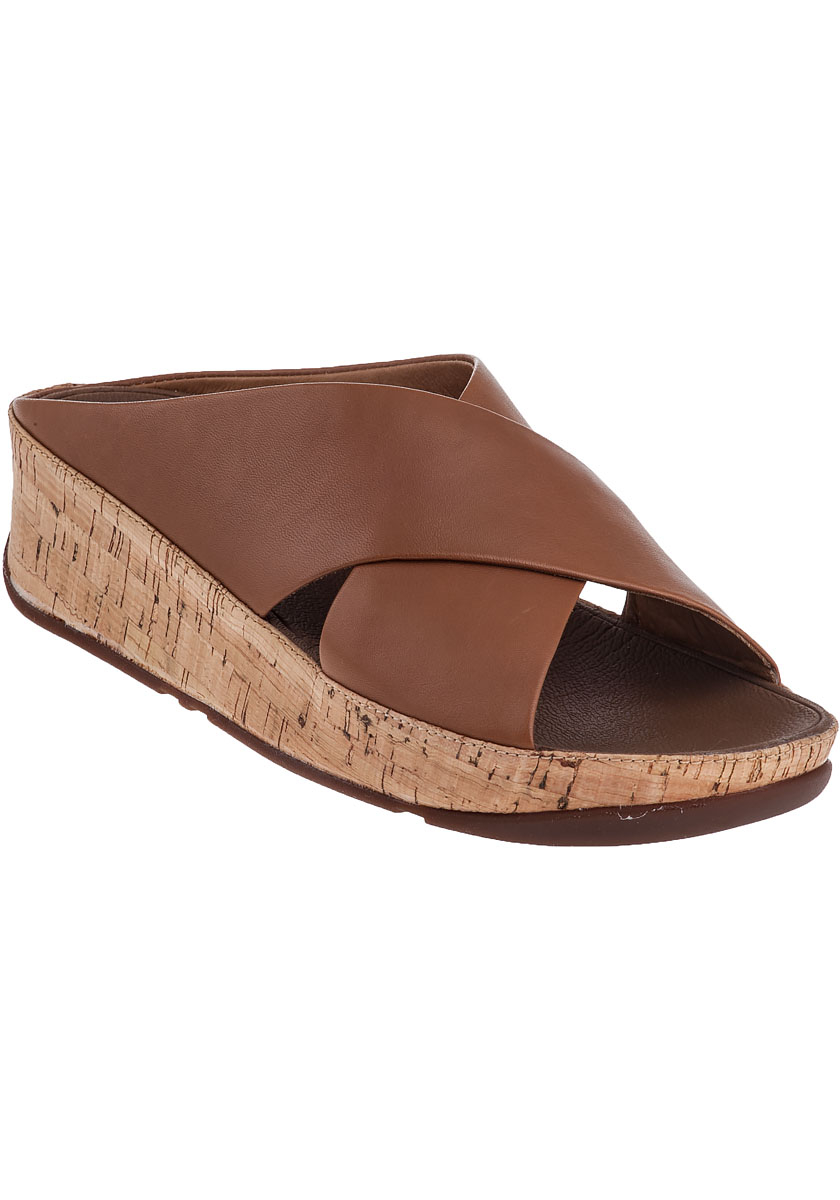 Fitflop Kys Slide Sandal Tan Leather In Brown Lyst