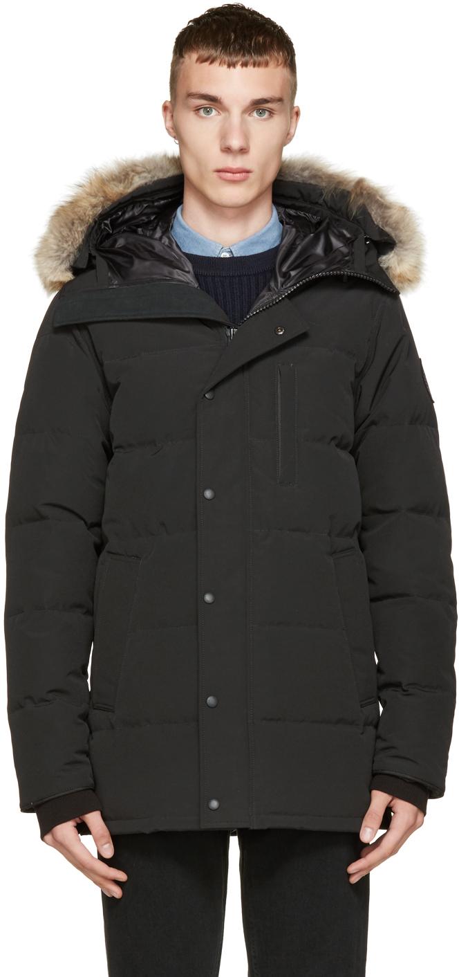 483290e11f08 Lyst - Canada Goose Black Down Black Label Carson Parka in Black for Men