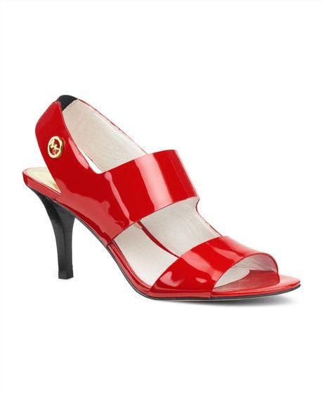 Michael Kors Rochelle Open Toe Sandal in Red